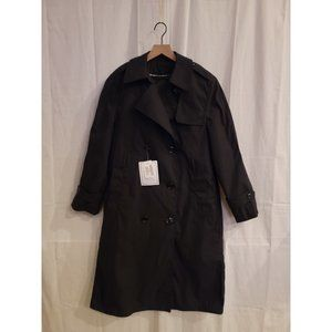 Garrison Collection All-Weather Trench Coat Black